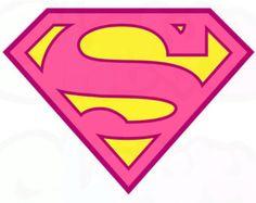 Pink Superman - Logo ~ Iron On Fabric Transfers Tshirt Iron-on ~ #031