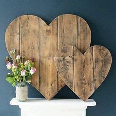 wood pallet heart art