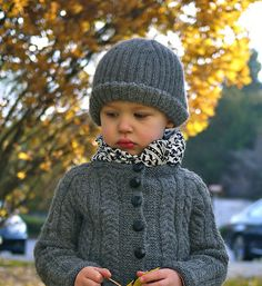 Ravelry: Ribbed Cap pattern by Isabelle Demarchais. Cardigan pattern also available for $2