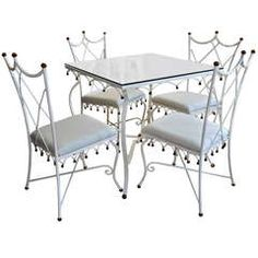 Whimsical and Rare Italian Patio Set