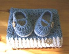 Newborn 0-3 Months Baby Crochet Hat With Booties From Cotton Yarn
