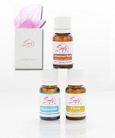 The Jolly Set - #SimplyAroma - Includes:   Cinnamon (Cinnamomum zeylanicum) 10mL Clove (Syzygium aromaticum) 10mL Peppermint (Mentha piperita) 10mL