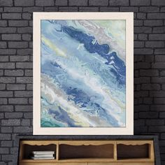 Coastal print, blue decor, , nautical art, Tropical ocean, beach house decor, nautical decorating, ocean print, Gift for friend - Sea foam 3