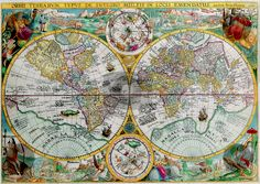 #Ancient Map of the World Petrus Plancius