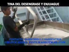 LIMPIEZA PARA APLICAR PINTURA EN POLVO GRUPO CADENA - YouTube