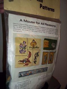 Sarah Mills Needlecraft Kit Mouse Eyeglass Case Needlepoint Fritzi Klopfenstein  #HeritageHill