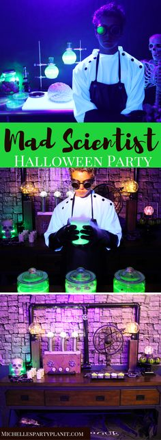 Kick Halloween up a notch with this fun Mad Scientist Halloween Party for Teens! Filled with fun and crafty DIYs and a recipe for Toxic punch!