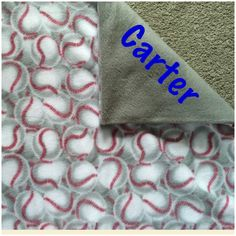 New to Sewdivine77 on Etsy: Baseball double layered fleece blanket/throw (55.00 USD)