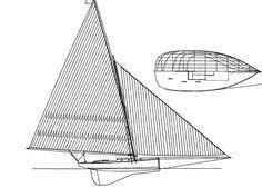 ALCYON, 2013 LOA 22ft 11in (7m), LOS 68ft 11in (21m), Beam 11ft 10in (3.6m), Draught 6ft 1in (1.9m), Disp 11,000lb (5 tonnes), Sail Area 1,614sqft (150sqm)