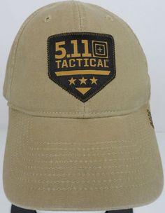 5.11 TACTICAL 2016 Baseball Hat Cap Beige Patch Logo Velcro Adjustable  Strapback  511Tactical  BaseballCap 03b3a3733d8b