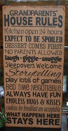 Need to make this for my parents. All of the above is true at their house! :)