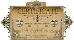 The perfect gift to give or receive. Why not try an Alchemist Publishing Gift Certificate! Gift Certificates, Alchemist, Tarot, Decorative Boxes, Gifts, Presents, Favors, Decorative Storage Boxes, Gift