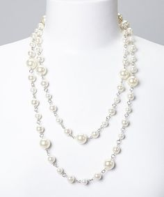 Look what I found on #zulily! Pearl Link Loop Necklace #zulilyfinds