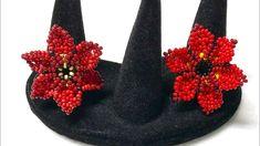 Seed Bead Tutorials, Beading Tutorials, Diy Beaded Rings, Beaded Jewelry, Star Jewelry, Jewelry Crafts, Diy Flowers, Beaded Flowers, Ring Tutorial