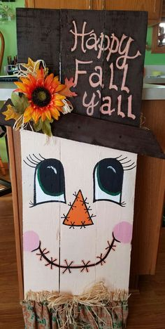 Woodworking Projects For Beginners Fall/Halloween.Woodworking Projects For Beginners Fall/Halloween Fall Wood Crafts, Halloween Wood Crafts, Christmas Wood Crafts, Autumn Crafts, Thanksgiving Crafts, Fall Halloween, Holiday Crafts, Wooden Crafts, Fall Projects