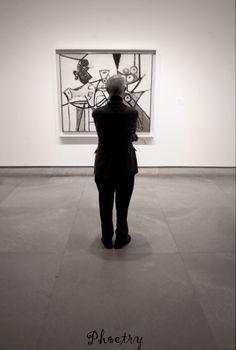 """Man gazing at art"" Philadelphia Art Museum"