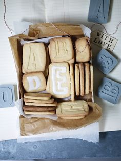 DIY: Letterpress Cookie Cutters-pinned by www.auntbucky.com #DIY #recipe #letterpress #food #desserts #cookies