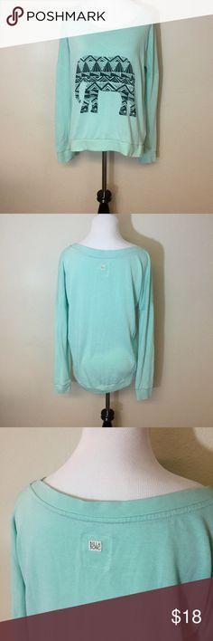Billabong elephant sweater Super soft and comfy, beautiful bright color! Billabong Sweaters