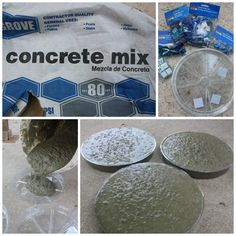 Concrete Stepping Stone Tutorial – Would add river rock to the mold first and then flip them out instead of putting them on top.