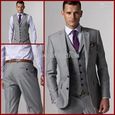 Wholesale Groom Tuxedos Best man Suit Wedding Groomsman/Men Suits Bridegroom (JacketPantsTieVest) A001, Free shipping, $122.3-134.4/Piece | DHgate