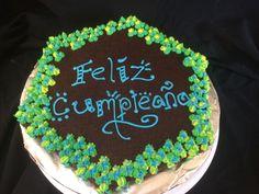 Brownie birthday cake