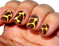 Fashionable Animal Print Nail Art Designs