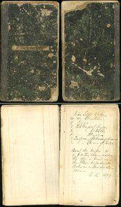 Vintage 100 year old recipe book, handwritten