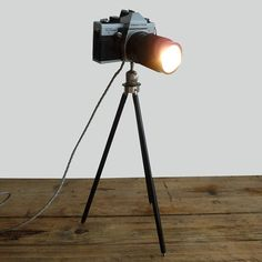Fancy - Vintage Super Praktica Camera Lamp