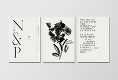 wedding invitation by Lisa Hedge. Venamour – Collection No. 6