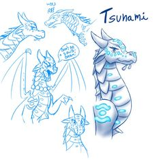 Sketches - Tsunami (WoF) by StarWarriors on DeviantArt