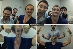 Rob Benedict,  Sebastian Roche,  Matt Cohen, and Richard Speight Jr.  Actual 5 year olds.