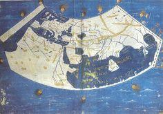 Interpretación en proyección cónica del mundo conocido a partir de la Geographia de Ptolomeo