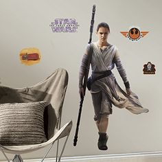 Star Wars Rey Gaint Wall Decal, prefect for kids room. #starwarsrey