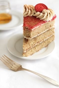 Bourbon Vanilla Layer Cake (a. Maker's Mark Cake) Bourbon Cake, Whiskey Cake, Vanilla Frosting, Vanilla Cake, Cake Recipes, Dessert Recipes, Desserts, Bourbon Vanille, Alcohol Cake