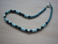 Turquoise Pearl and Shell Necklace £18