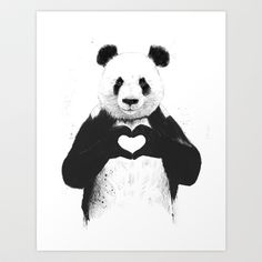 All you need is love › Art Print by Balázs Solti