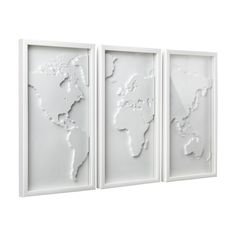 3-Piece Map Wall Decor Set