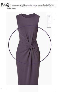 c' faq -contacts reponses - C'sur Mesure Drape Dress Pattern, Pants Pattern, Dress Patterns, Sewing Clothes, Diy Clothes, Draped Dress, Peplum Dress, Diy Vetement, Knot Dress