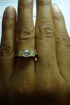 .93ct Asscher cut diamond | well cut asscher diamond | square emerald cut diamond