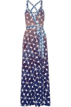 Diane von Furstenberg|Samson printed silk-jersey wrap maxi dress|NET-A-PORTER.COM