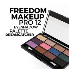 Pro 12 Dreamcatcher || PRO 12 Palettes. Professional palettes for all. Containing 12 shades of our High Definition formula,  to create impact and professional quality looks. Available in makeup artist assembled artistic themes and collections.  http://www.freedommakeuplondon.com/makeup/palettes-1/pro-12-eyeshadow-palette/pro-12-dreamcatcher.html #makeup #makeupforever  #makeupaddict #makeupoftheday #makeuplover #makeover #makeupgirl #smokeyeyes #eyesmakeup #animemakeup #lipstick #eyemakeup