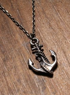 Sterling Silver Anchor necklace for men and by weareallsmith