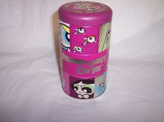Collectable Powerpuff Girls Stackable Tin. TM with Cartoon Network  #Trendmasters