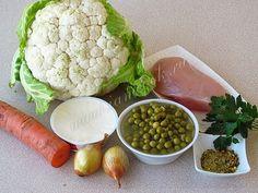 Ингредиенты для куриного супа с цветной капустой