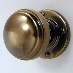 Stepped Bun Door Knobs Antique Brass: Stepped Bun Mortice Door Knob With  Plain Rose Antique Brass UnlacqueredThese Raised Oval Mortice Knobs Are