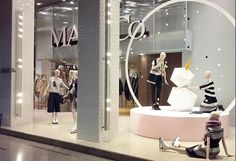 """MAX&CO.,Milan,Italy, """"Festive silver snowflakes are falling on our new collection!"""", pinned by Ton van der Veer"""