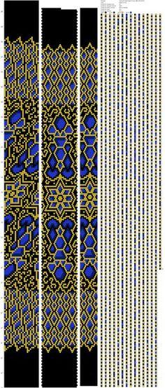 Схемы для бисерных жгутов от Марии Глуховой
