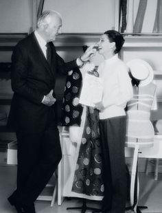 Hubert de Givenchy and Audrey Hepburn at the Maison Givenchy Avenue George V, photographed by Eric Robert 1991