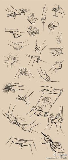 各种手部动作画法
