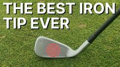 The Best Iron tip ever - learn to compress your irons. If you find yourself thinning, fatting, chunking or simply hitting the ground before the golf ball thi. Best Golf Irons, Volleyball Tips, Discount Golf, Best Iron, Golf Putting Tips, Golf Practice, Chipping Tips, Golf Instruction, Driving Tips